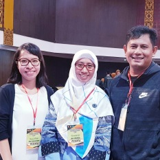 With fellow translators, Ira Susana and Sutarto Muhammad