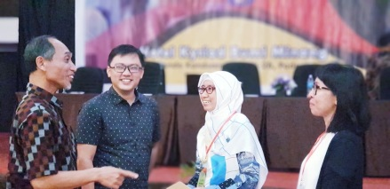 Left to right: Dr. Sugeng Hariyanto, Ade Indarta, Ira Susana, and me :)