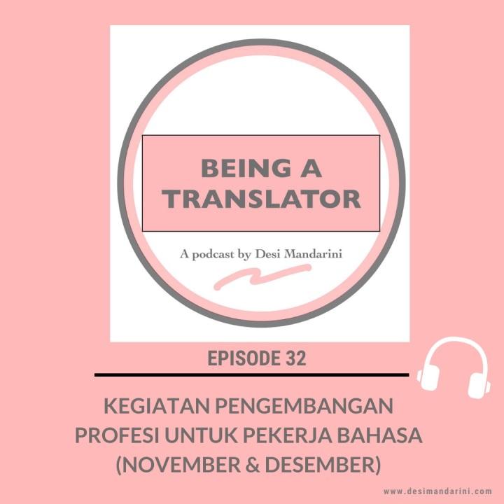 Siniar Episode 32: Kegiatan Pengembangan Profesi untuk Pekerja Bahasa Bulan November & Desember2019