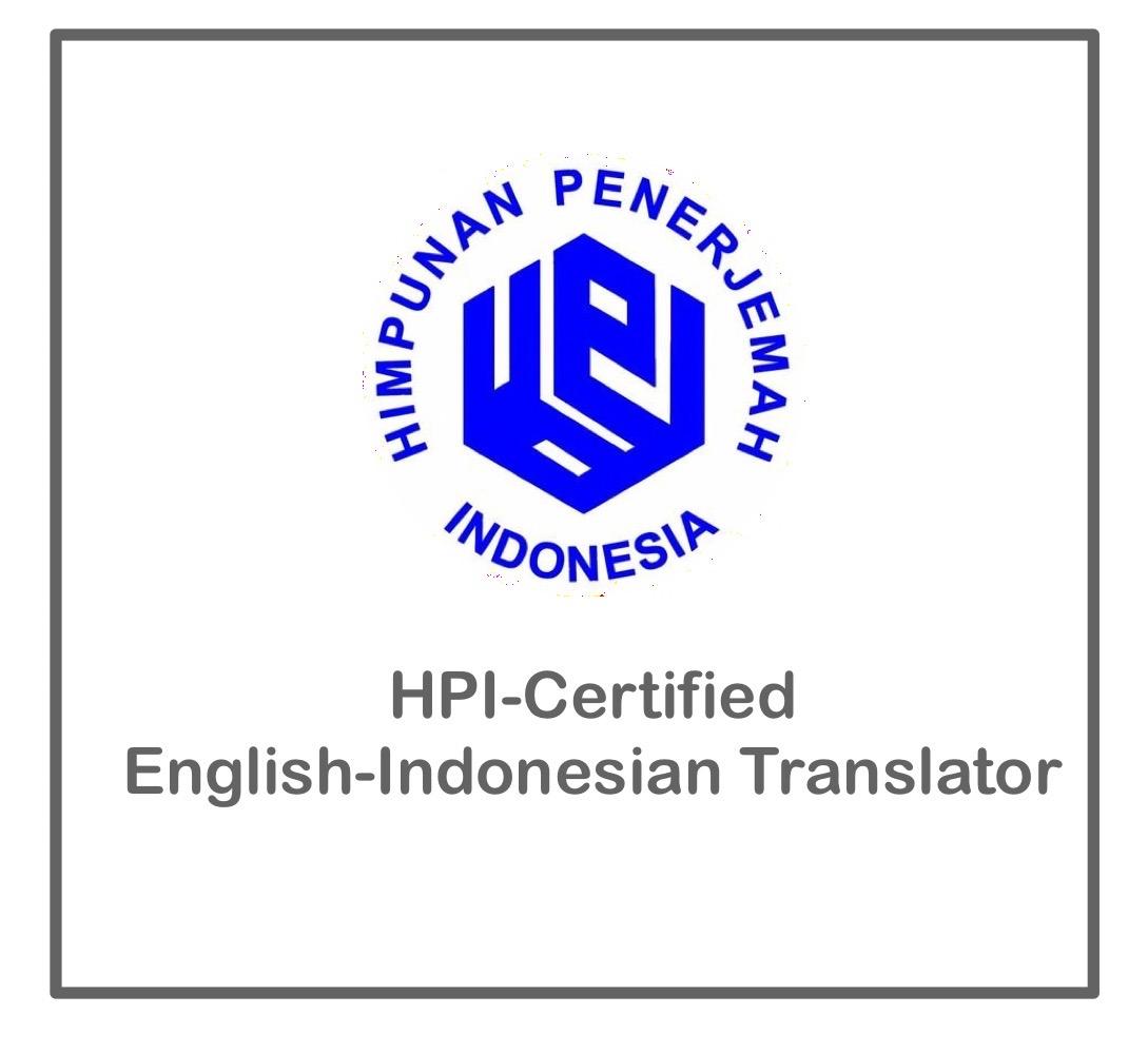 certified English-Indonesian translator
